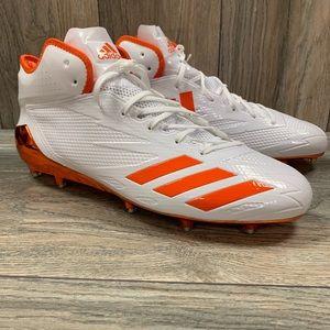 Adidas Football Cleats White/Orange